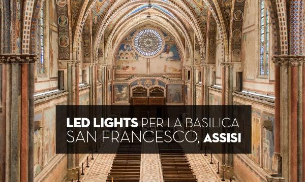 2015 09 23 - - BASILICA ASSISI - LED LIGHTS