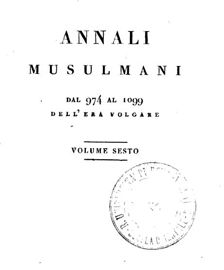 ANNALI MUSULMANI dal 974 al 1099
