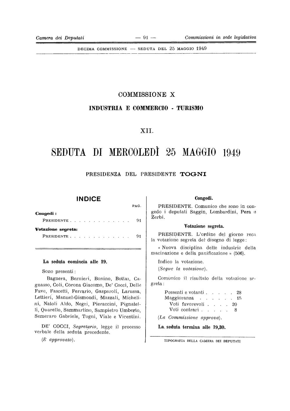1949-05-25-SEDUTA-X-COM-PARL-IND-COM-TUR