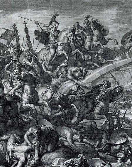 312-10-28-450px-Battle_at_the_Milvian_Bridge,_Gérard_Audran_after_Charles_Le_Brun,_1666-crop